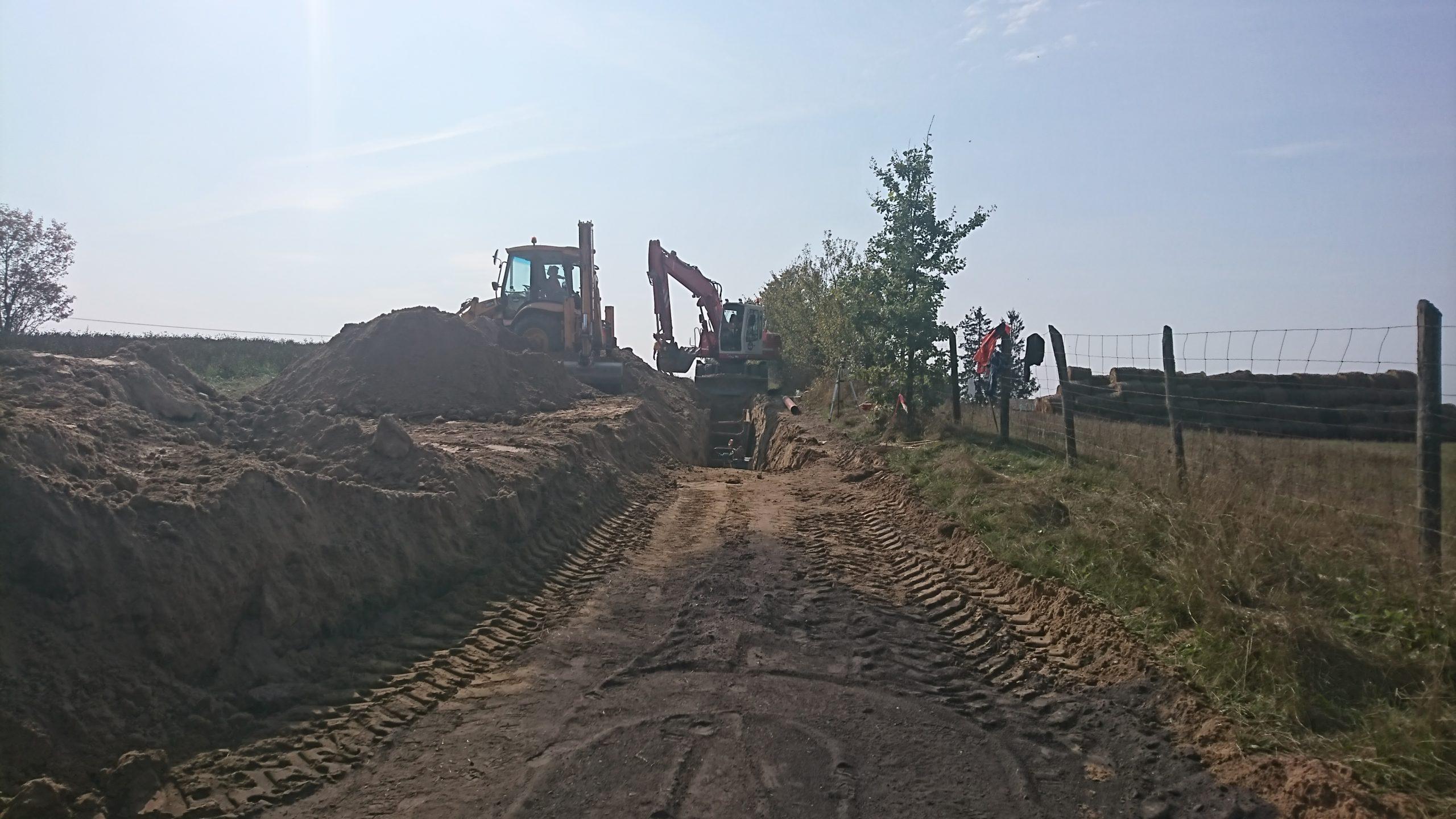 Budowa kanalizacji w Kościerskiej Hucie