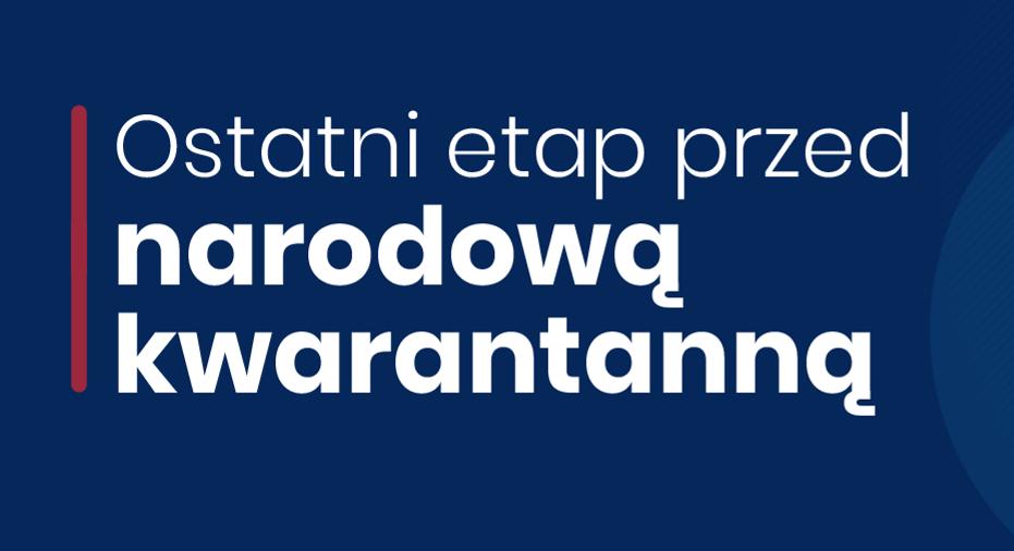 Nowe kroki w walce z koronawirusem – ostatni etap przed narodową kwarantanną