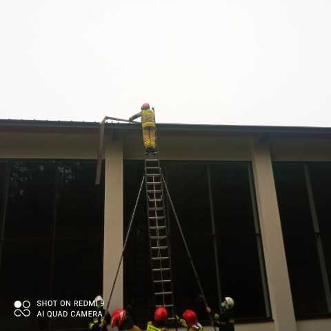 Akcja Straży Pożarnej w Kaliskach