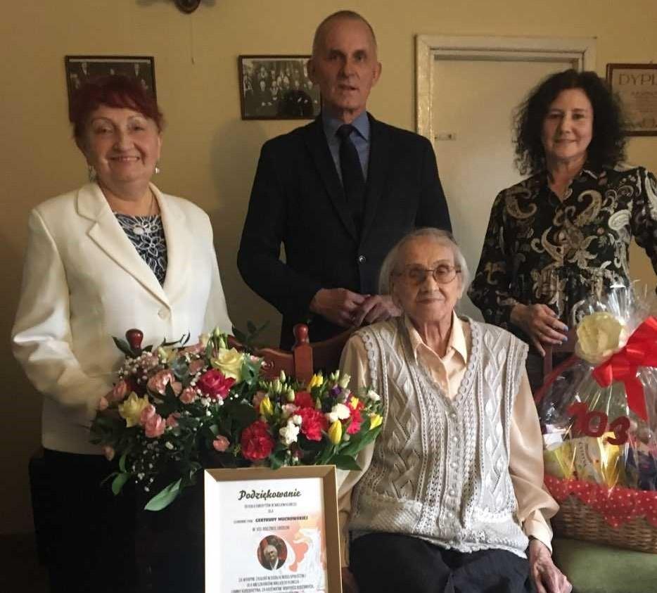 Pani Gertruda Muchowska – mieszkanka Wielkiego Klincza obchodziła 103. urodziny