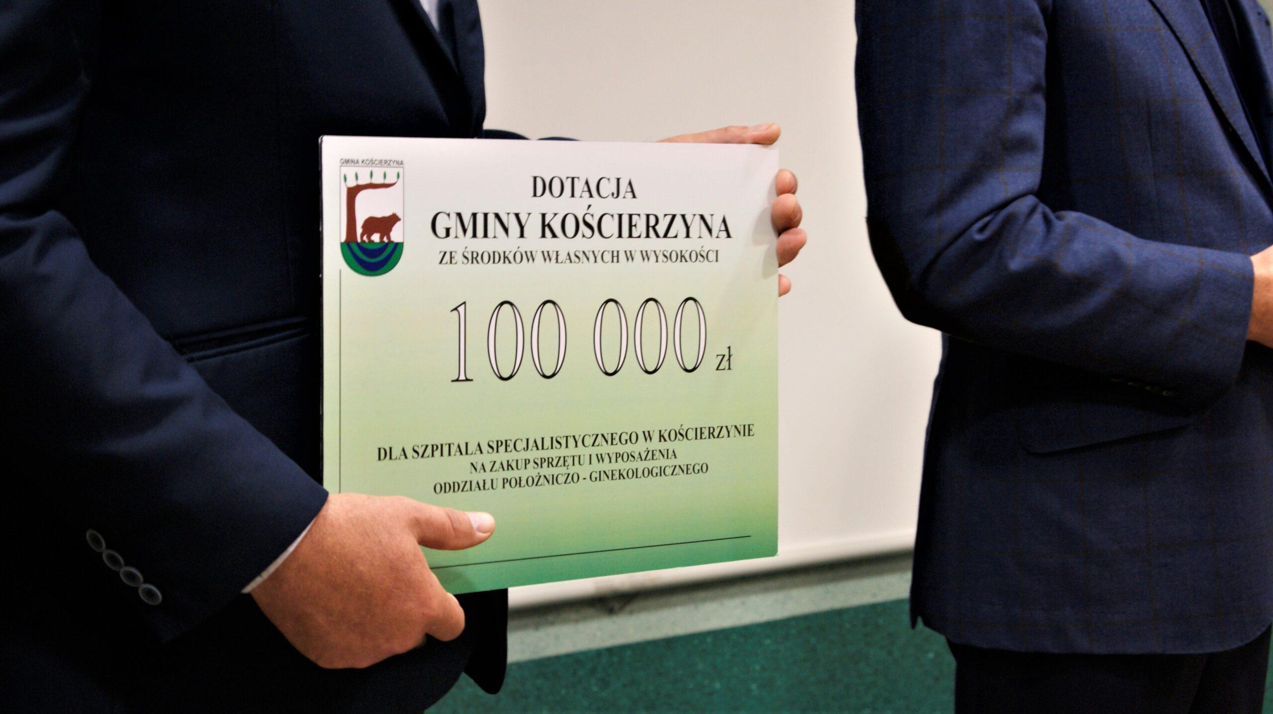 Wsparcie Gminy Kościerzyna dla Szpitala Specjalistycznego w Kościerzynie