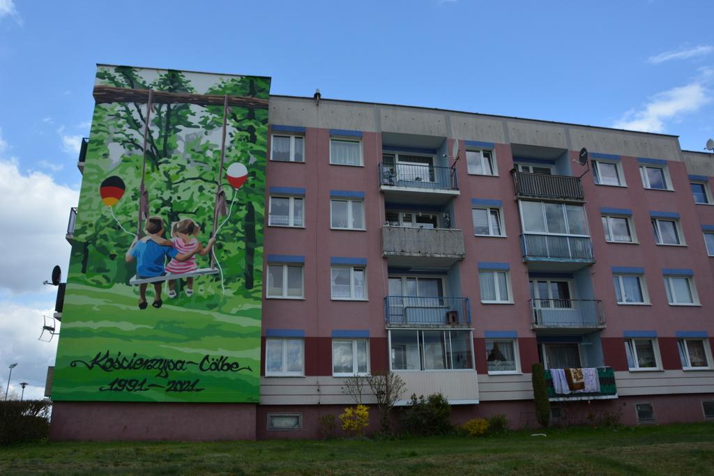 Mural w Łubianie jako znak przyjaźni polsko-niemieckiej