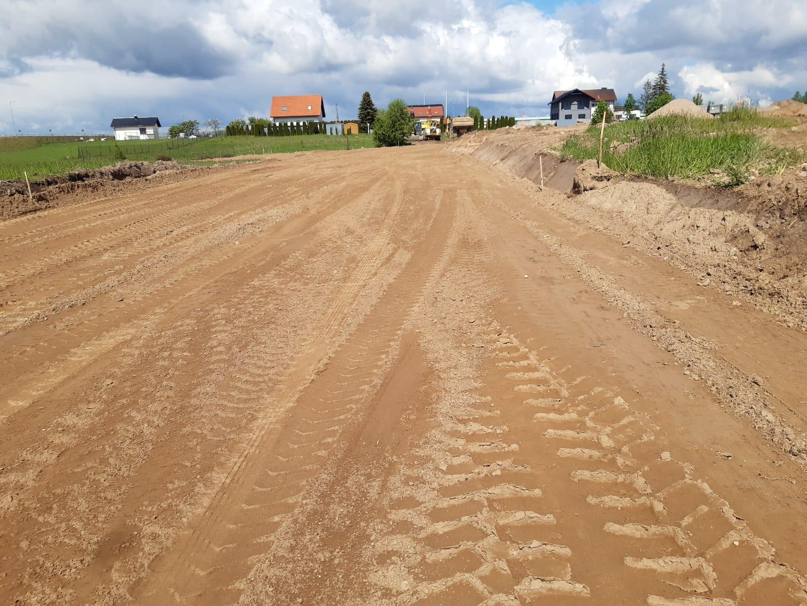 Budowa drogi w Kościerskiej Hucie