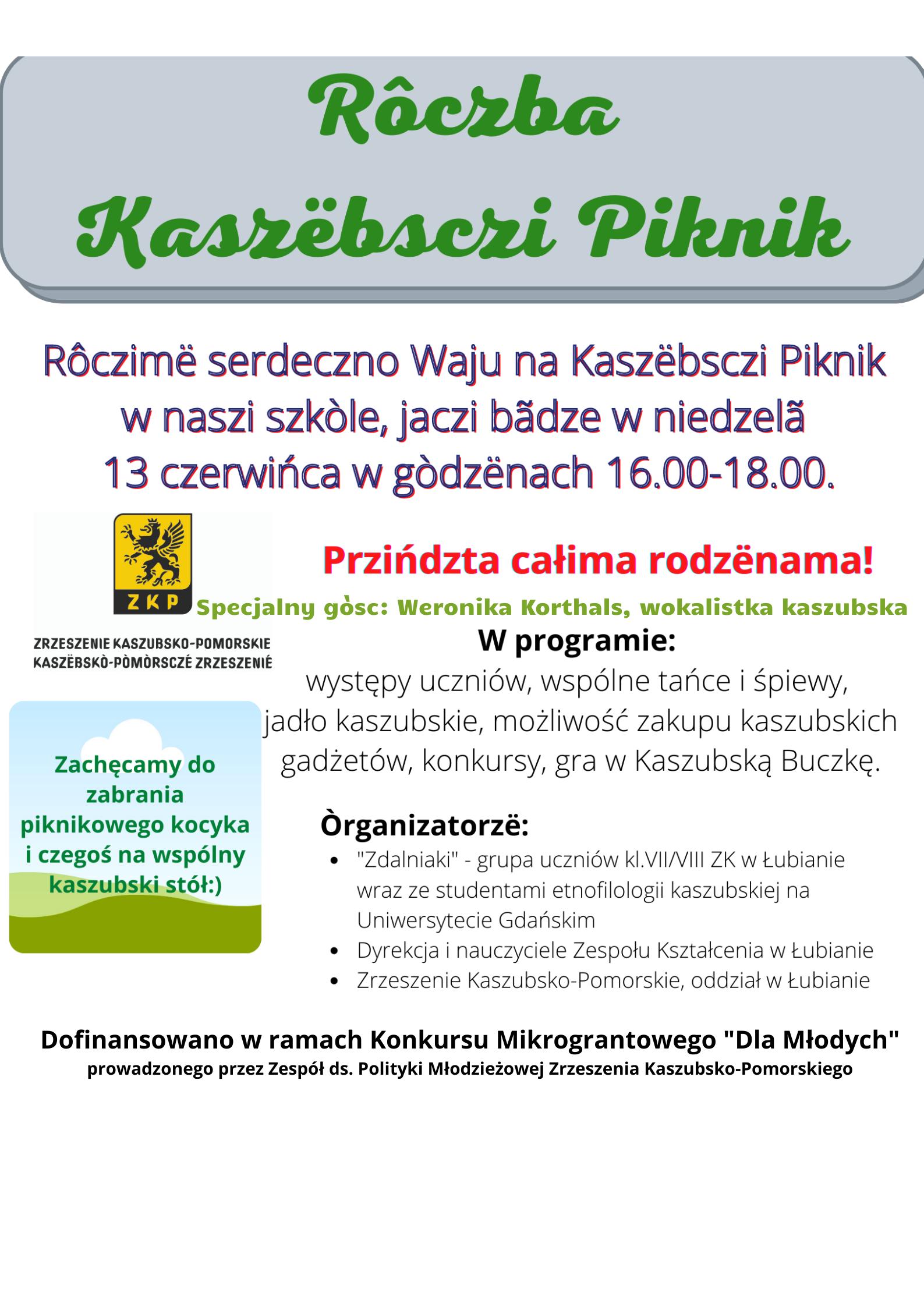 Kaszubski Piknik Rodzinny odbędzie się w szkole Łubianie