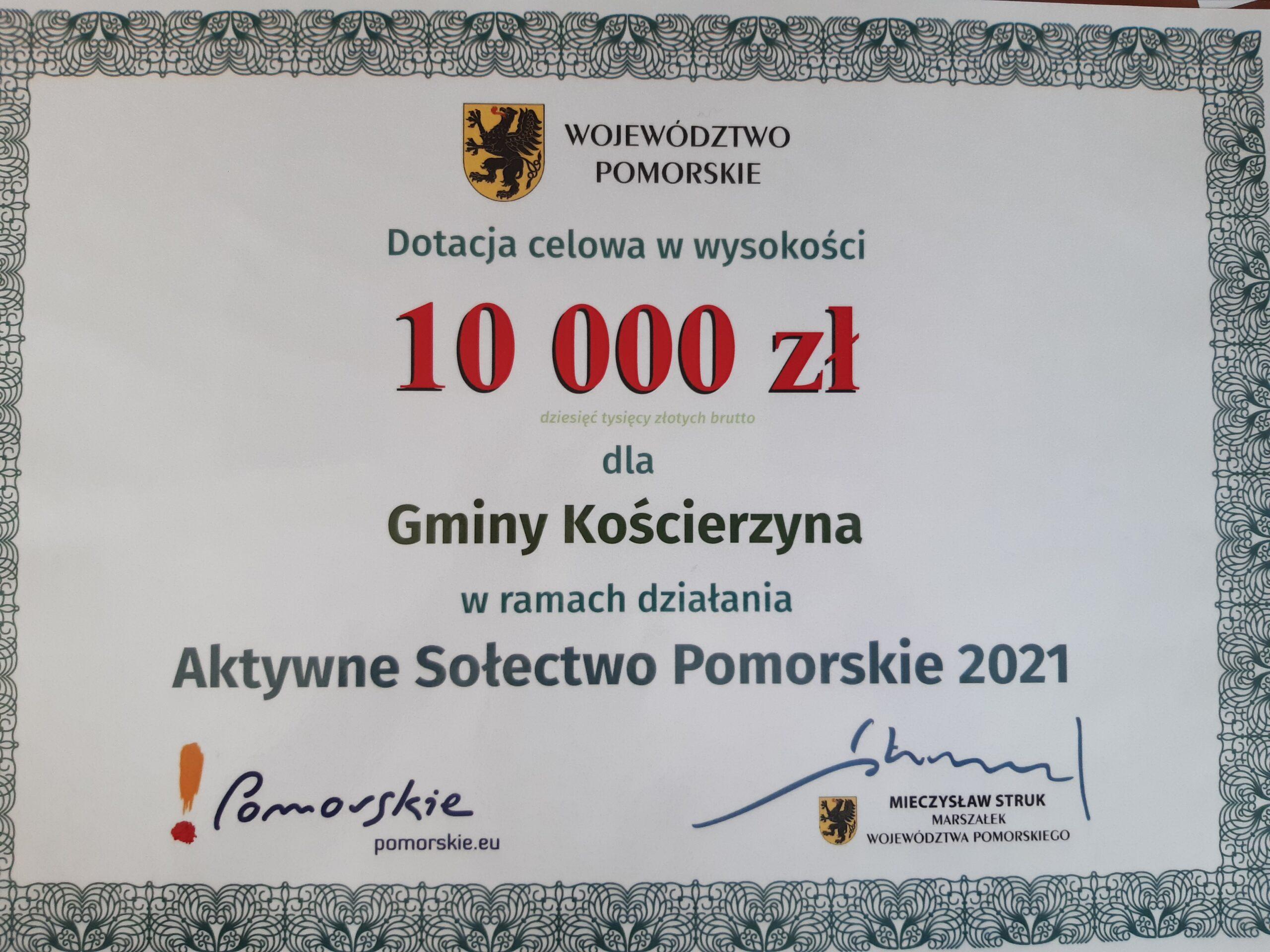 Aktywne Sołectwo – dotacja na plac zabaw w Łubianie